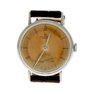 Omega Chronometer Circa 1944 Steel 17 Jewel Manual Wind Wrist Watch