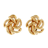 Estate Love Knot Earrings 14k Yellow Gold Clip Post