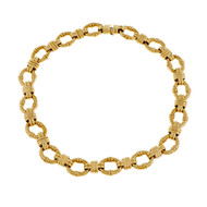 Estate Tiffany & Co Fancy Link Necklace 18k Yellow Gold