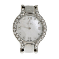 Ladies Ebel Beluga Stainless Steel Mother Of Pearl Diamond Dial Diamond Bezel