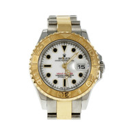 Rolex Yacht-Master Ladies 18k Yellow Gold & Steel 169263 White Dial
