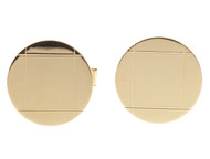 Vintage Designer CCC Classic 14k Yellow Gold 3/4 Inch Etched Round Cuff Links
