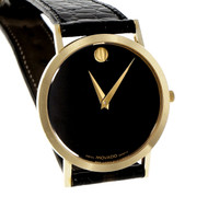 Movado Museum Wrist Watch 14k Yellow Gold Men's
