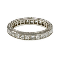 Peter Suchy French Cut Diamond Eternity Band Ring Platinum 2.21cts