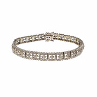 Estate Diamond Bracelet Deco Style 18k White Gold