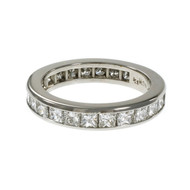 Byard F. Brogan Princess Cut Diamond Eternity Band Ring Platinum