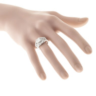 Antique Art Deco 1.10ct Transitional Cut Diamond 14k Retro Ring