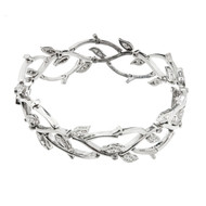 1990s Tiffany & Co. Diamond Platinum Garland Bracelet