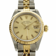 Rolex Date 69173 Wrist Watch 18k Gold & Steel