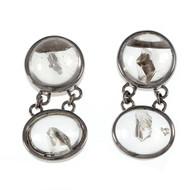 Peter Suchy Rare Quartz Manifestor Crystal Dangle Earrings 18k White Gold