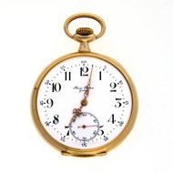 Vintage Henri Blanc Genuine 14k Open Face Pocket Watch
