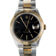 Rolex Thunderbird Turn-O-Graph 18 Karat Gold Steel Datejust Wrist Watch 1985
