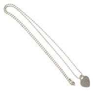 Tiffany & Co Heart Tag Necklace Return To Tiffany Bead Chain