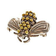 Tiffany & Co Bee Pin Silver & 18k Yellow Gold B
