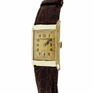 IWC International Watch Co 1930 Wrist Watch 14k Gold Zentra