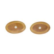 Estate 1935 Oval Rose Gold Diamond Cuff Link 14k Yellow Gold