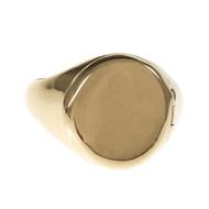 Vintage Poison Locket Ring Signet Style Hinged Top 14k Yellow Gold