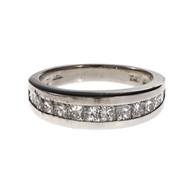 Graduated Princess Cut Channel Set Diamond Band Ring