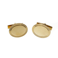 Estate Larter & Sons Cuff Links Oval 14k Yellow Gold