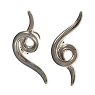 Estate Angela Cummings Silver Swirl Earrings Clip & Post