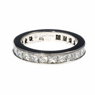 Byard Brogan Princess Cut Diamond Eternity Band Ring Platinum
