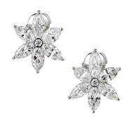 Peter Suchy Marquise Diamond Cluster Earrings Platinum 6.41ct