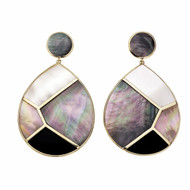 Ippolita Polished Mosaic Rock Candy Earrings Jumbo Tear Drop 18k