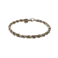 Tiffany & Co Twisted Rope Bracelet Silver 18k Yellow Gold