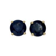Estate 2.00ct Sapphire Stud Earrings 18k Yellow Gold