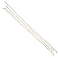 Estate Cultured Pearl 3 Necklace Wardrobe Invisible Catches