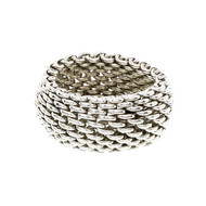 Estate Tiffany & Co Somerset Silver Ring Wide Mesh