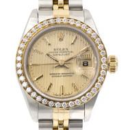 Rolex Ladies Datejust Ref 69173 18K Gold & Stainless Steel Diamond 26mm Watch