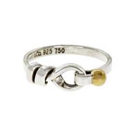 Tiffany & Co Hook & Eye Ring Silver & 18k Yellow Gold