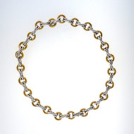 Estate Tiffany Paloma Picasso 18k Yellow Gold Silver XO Necklace