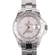 Ladies Steel Rolex Yachtmaster 169622 Platinum Dial