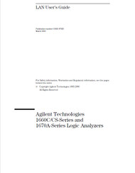 1660C/CS-Series and 1670A-Series Logic Analyzers, LAN User's Guide | Agilent