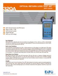 BRT-320A Optical Return Loss Test Set   EXFO