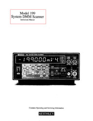 199 System DMM Scanner Instruction Manual | Keithley