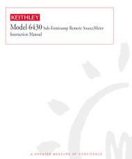 6430 Sub-Femtoamp Remote SourceMeter, Instruction Manual | Keithley