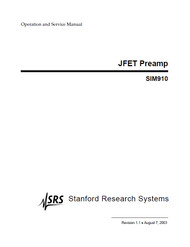 SIM910 JFET Preamp - Operation and Service Manual
