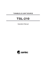 TSL-210 Tunable LD Light Source, Operation Manual | Santec