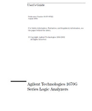 1670G Series Logic Analyzer, Use's Guide | HP Agilent Keysight