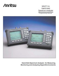 MS2711A Hand-Held Spectrum Analyzer, Programming Manual | Anritsu