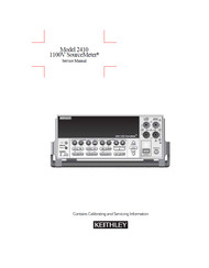 2410 1100V SourceMeter, Service Manual | Keithley