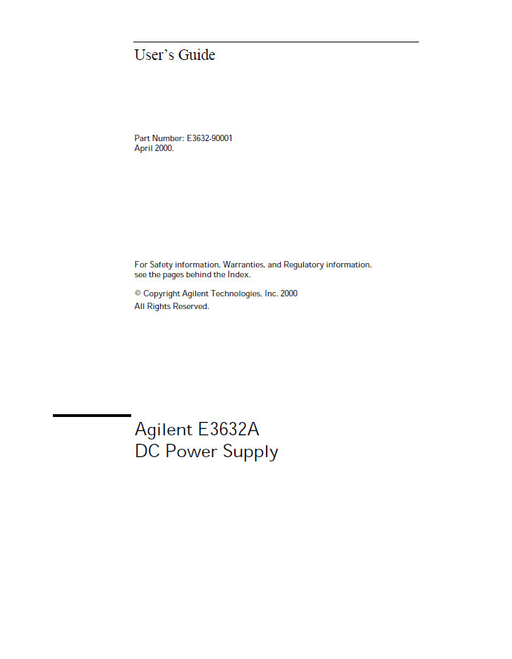 e3632a dc power supply user s guide hp agilent keysight rh techrecovery com agilent 3458a user guide agilent e5071c user guide