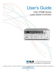 LDC-3700B Series Laser Diode Controller, User's Guide | ILX Lightwave, Newport