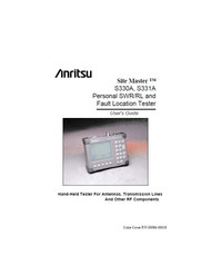 S330A, S331A Personal SWR/RL and Fault Location Tester, User's Guide | Anritsu