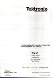 TG501 Time Mark Generator, Instruction Manual | Tektronix