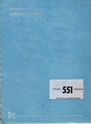 551 Dual Beam Oscilloscope, Instruction Manual   Tektronix