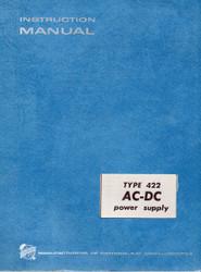 422 AC-DC Power Supply, Manual   Tektronix
